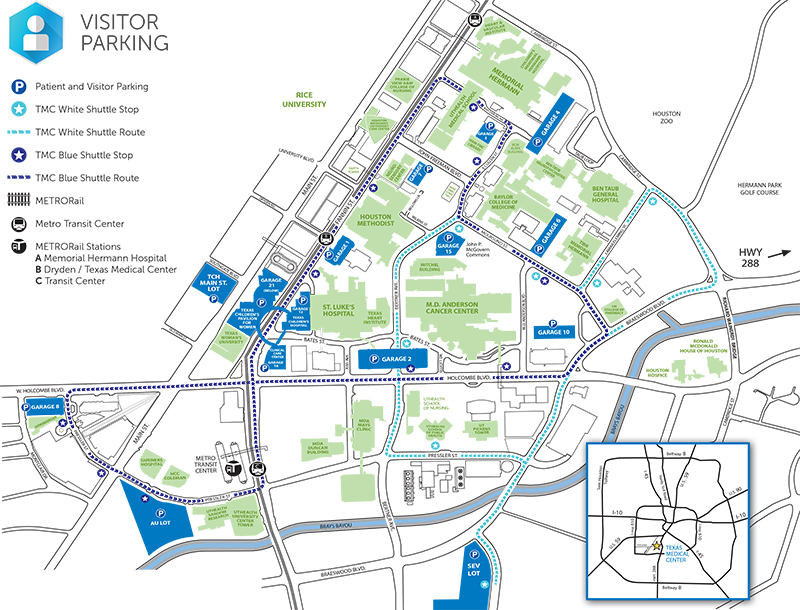 Texas Medical Center Parking Map