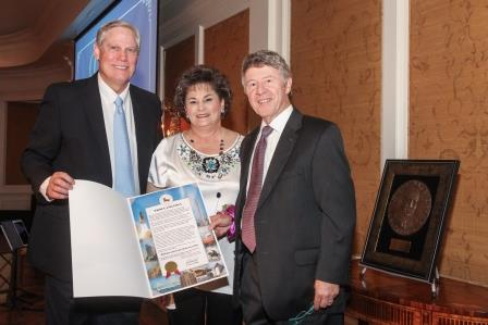 Corby and Barbara Robertson and Harris County Judge Ed Emmett
